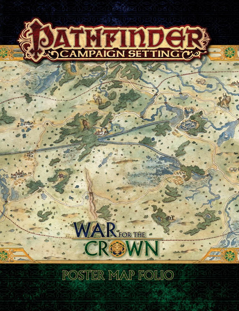 Paizo Com Pathfinder Campaign Setting War For The Crown Map Folio