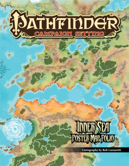 Paizo Com Pathfinder Campaign Setting Inner Sea Poster Map Folio