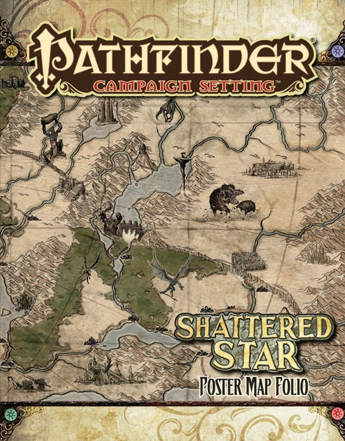Paizo Com Pathfinder Campaign Setting Shattered Star Poster Map Folio