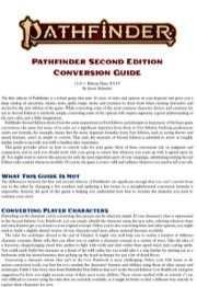 Pathfinder Second Edition Conversion Guide