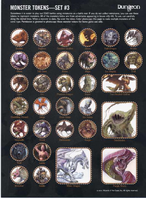 Paizo Com Dungeon Monster Tokens Set 3