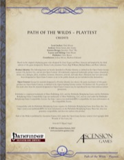 Path of the Wilds - Playtest PDF