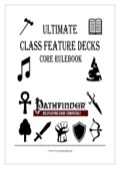 FREE–Ultimate Class Feature Decks: Core (PFRPG) PDF