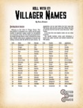 Roll With It! Villager Names PDF