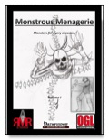 Monstrous Menagerie, Vol. I (PFRPG) PDF