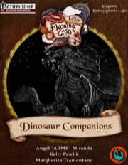 Letters from the Flaming Crab: Dinosaur Companions (PFRPG) PDF