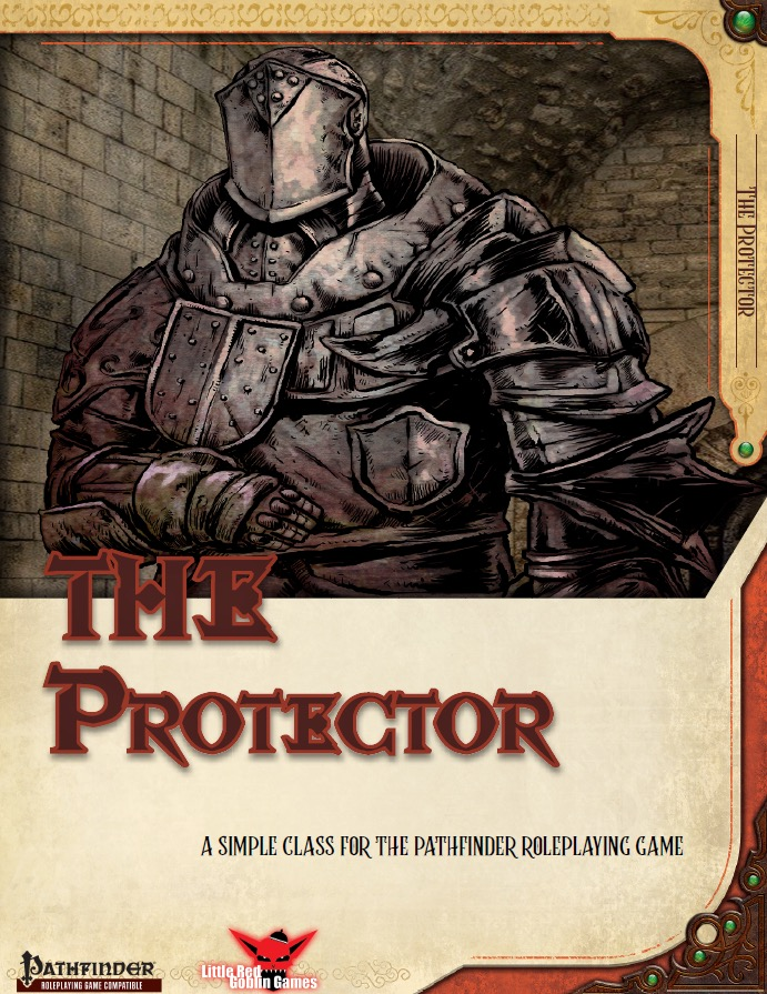 Simple Classes: Protector: A large heavily armored knight standing guard