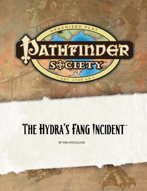 Cover of Pathfinder Society Scenario #2: The Hydra's Fang Incident