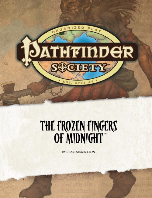 Cover of Pathfinder Society Scenario #4: The Frozen Fingers of Midnight