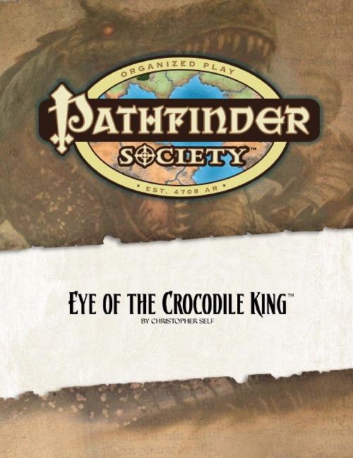 Cover of Pathfinder Society Scenario #9: Eye of the Crocodile King