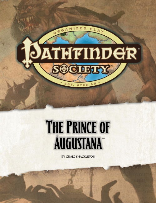 Cover of Pathfinder Society Scenario #13: The Prince of Augustana