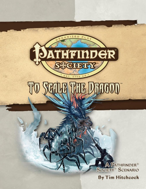 Cover of Pathfinder Society Scenario #16: To Scale the Dragon