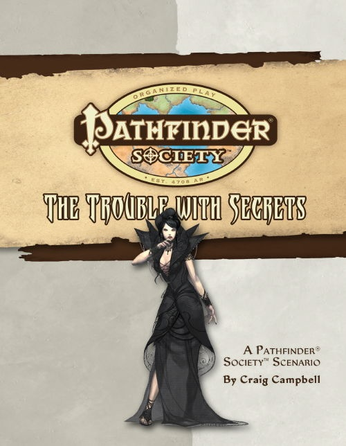 Cover of Pathfinder Society Scenario #18: The Trouble with Secrets