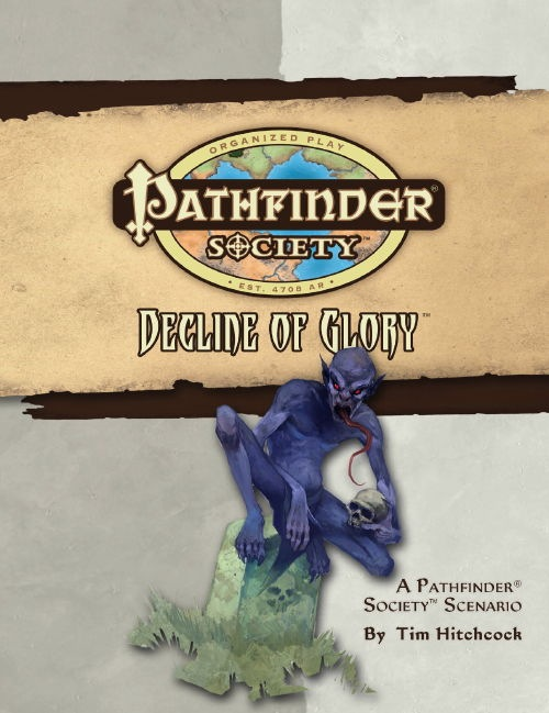 Cover of Pathfinder Society Scenario #24: Decline of Glory