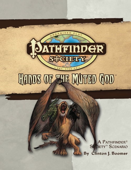 Cover of Pathfinder Society Scenario #25: Hands of the Muted God