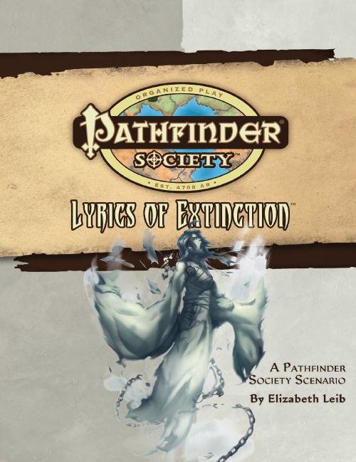 Cover of Pathfinder Society Scenario #28: Lyrics of Extinction