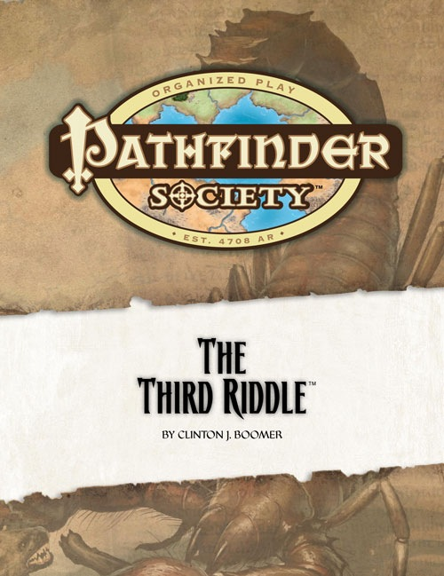 Cover of Pathfinder Society Scenario #11: The Third Riddle