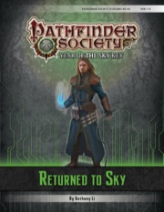 Pathfinder Society Scenario #6–20: Returned to Sky (PFRPG) PDF