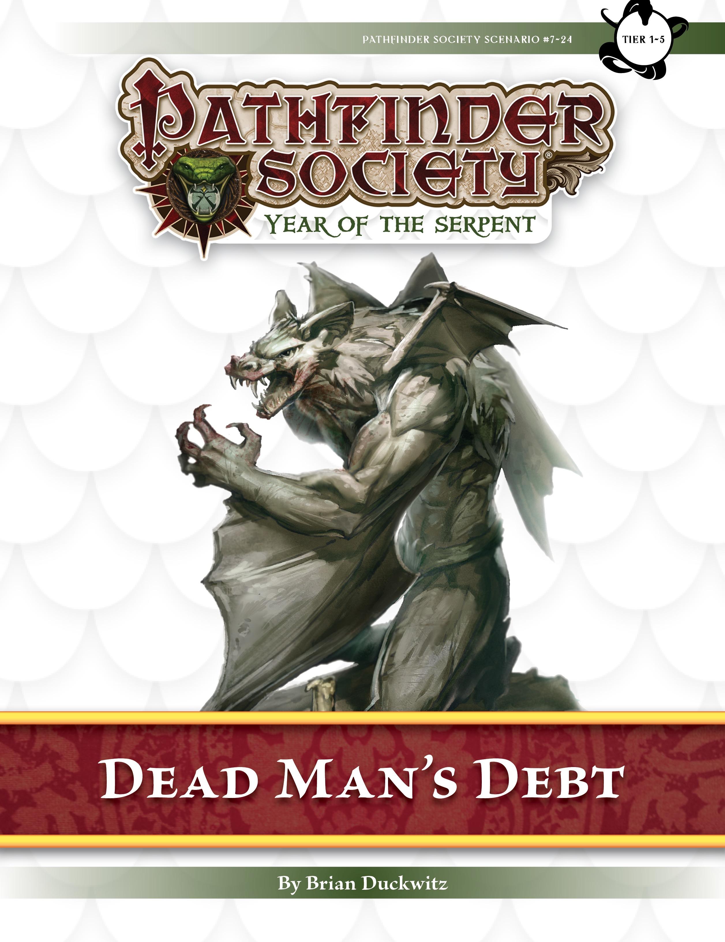 Paizo Com Pathfinder Society Scenario 7 24 Dead Man S Debt