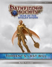 Pathfinder Society Scenario #8-20: Torrent's Last Will (PFRPG) PDF