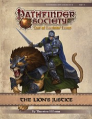 Pathfinder Society Scenario #9-13: The Lion's Justice PDF