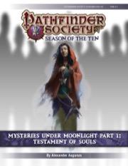 Pathfinder Society Scenario #10-05: Mysteries Under Moonlight, Part 1: Testament of Souls
