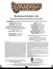 Pathfinder Society: GM 101 PDF