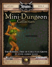 Mini-Dungeon #030: The Burning Tree of Coilltean Grove (Fantasy Grounds) (Download)
