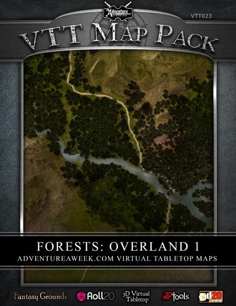 Paizo. Com vtt map pack: forests overland 1 (download).