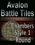 Avalon Battle Tiles, Dungeon Chambers, Round PDF