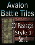 Avalon Battle Tiles—10' Dungeon Passages: Set 1, Style 1 PDF