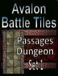 Avalon Battle Tiles, 15' Dungeon Passages, Set 1 Style 1 PDF