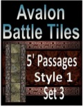 Avalon Battle Tiles—5' Dungeon Passages: Set 1, Style 1 PDF