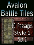 Avalon Battle Tiles, 10' Dungeon Passages, Set 1 Style 2 PDF
