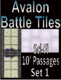 Avalon Battle Tiles—Sci-Fi 10' Passages: Set 1, Style 1 PDF