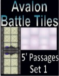 Avalon Battle Tiles—Sci-Fi 5' Passages: Set 2, Style 1 PDF