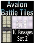 Avalon Battle Tiles, Sci-Fi 10' Passages, Set 2 Style 1 PDF