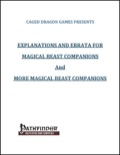 Explanations and Errata for Magical Beast Companions and More Magical Beast Companions (PFRPG) PDF