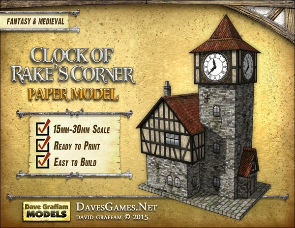 paizo com - Clock of Rake's Corner Paper Model PDF