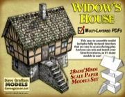 Widow's House 30mm Paper Model PDF