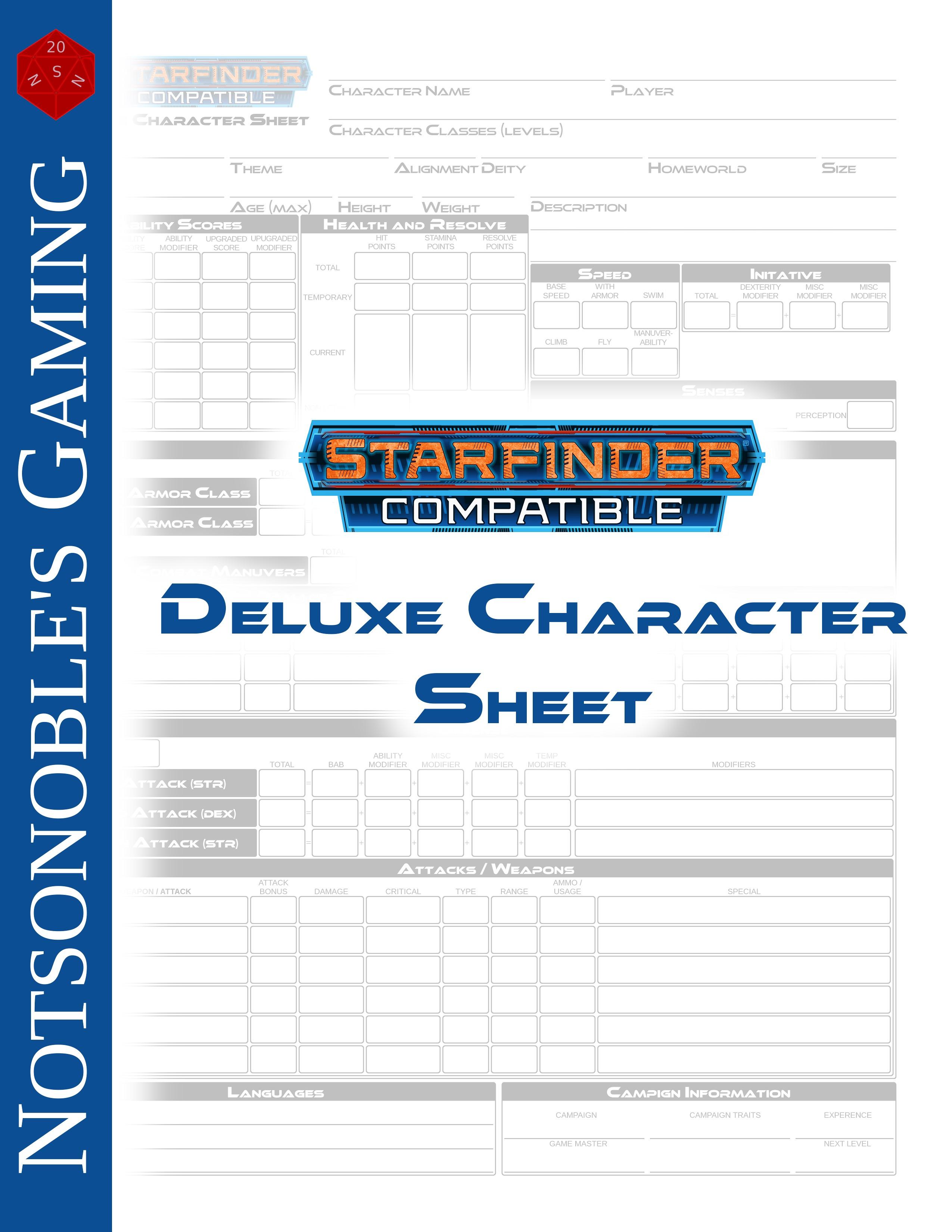 paizo com - Deluxe Character Sheet (SFRPG) PDF