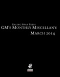 GM's Monthly Miscellany: March 2014 (PFRPG) PDF