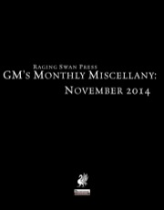 GM's Monthly Miscellany: November 2014 (PFRPG) PDF