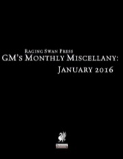 GM's Monthly Miscellany: January 2016 (PFRPG) PDF