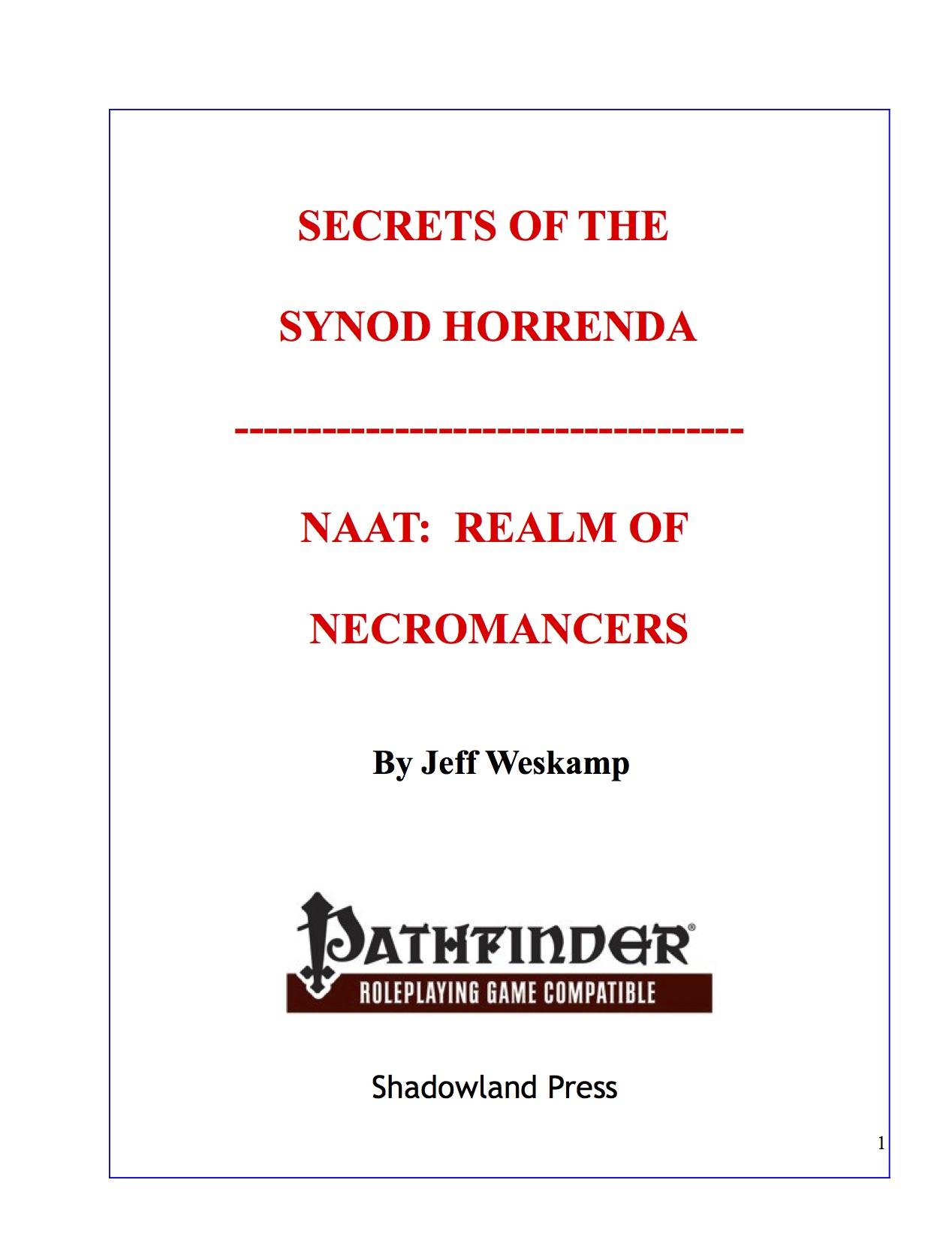 paizo com - Secrets of the Synod Horrenda: Naat, Realm of