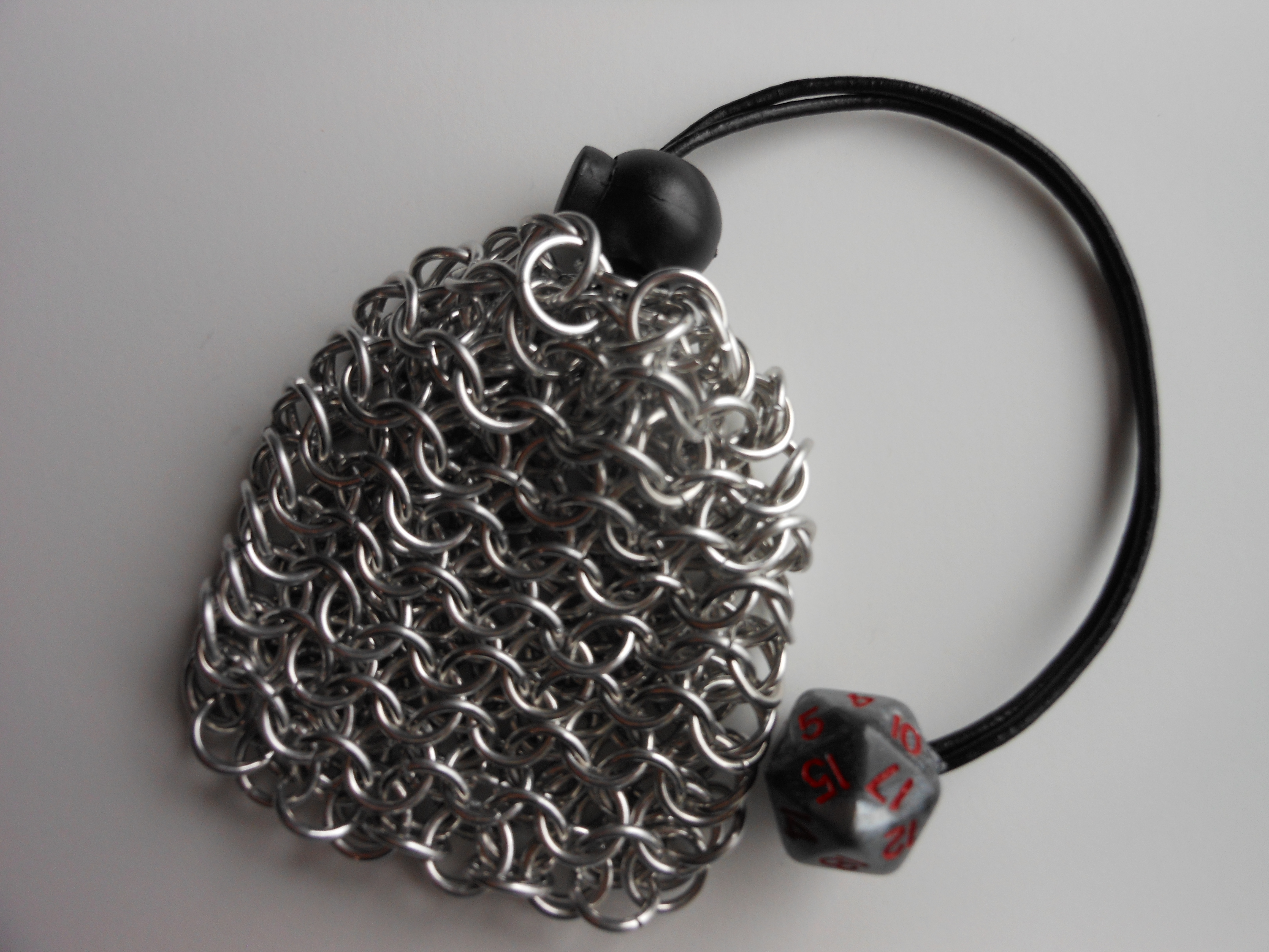 Dice Bag Pouch Chainmaille Aluminum