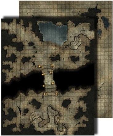 Paizo Com Gamemastery Flip Mat Darklands