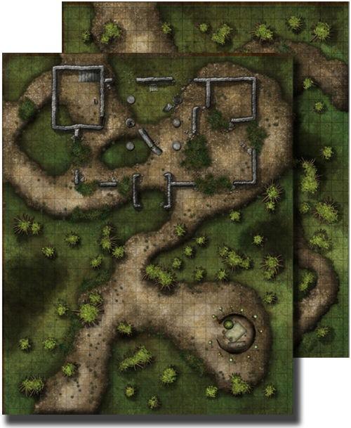 Paizo Com Gamemastery Flip Mat Swamp