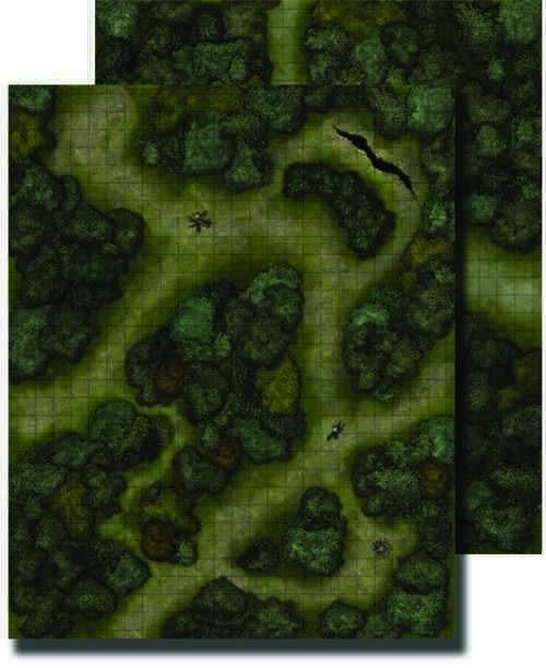 Paizo Com Gamemastery Flip Mat Forest