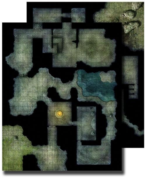 Paizo Com Gamemastery Flip Mat Haunted Dungeon